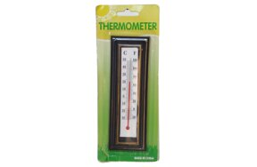 PLASTIC THERMOMETER BROWN